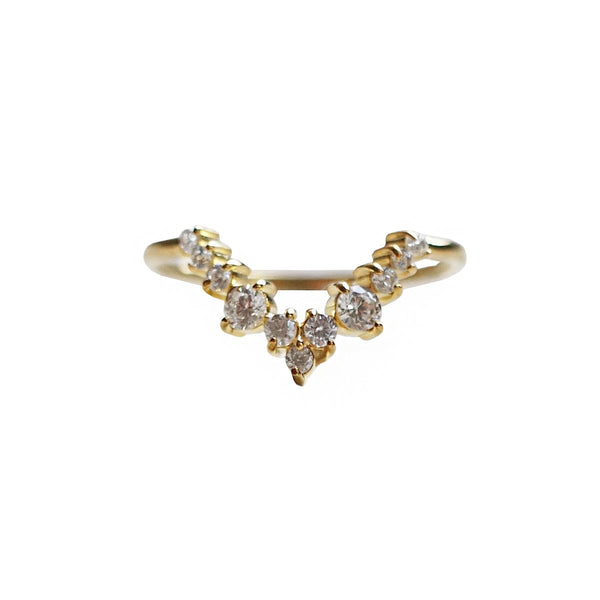 14KT Goddess Diamond Ring - Melroso