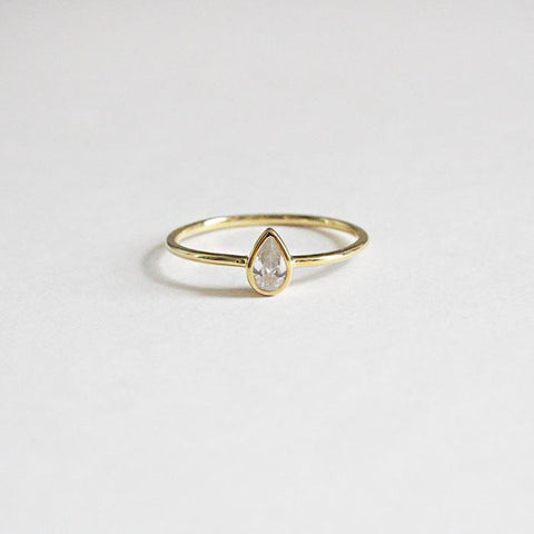 Teardrop Ring - Melroso Jewelry