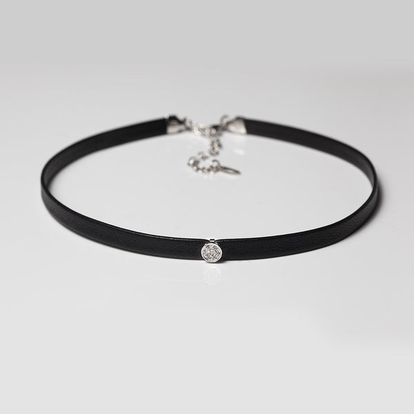 Leather Gigi Choker - Melroso Jewelry