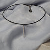 Leather Choker Stick Necklace - Melroso