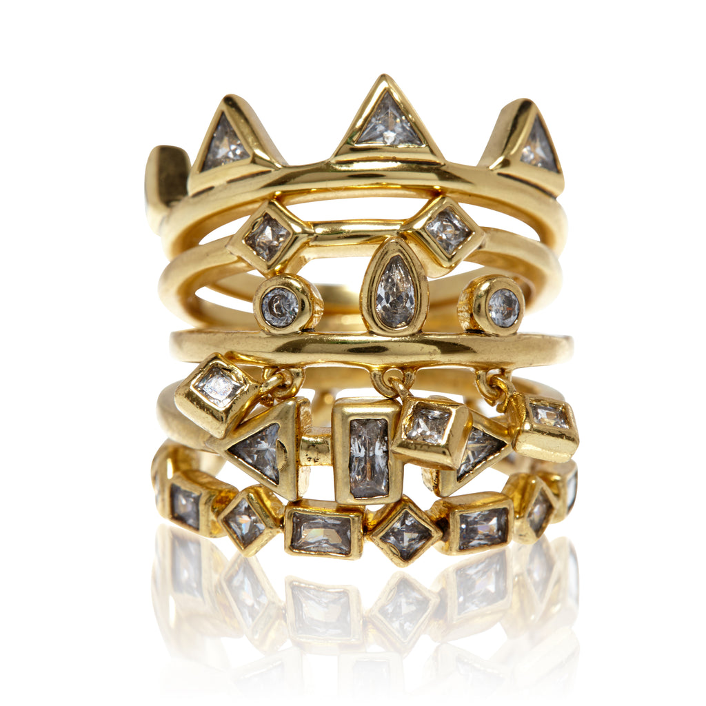 Medley Stone Ring Set - Melroso