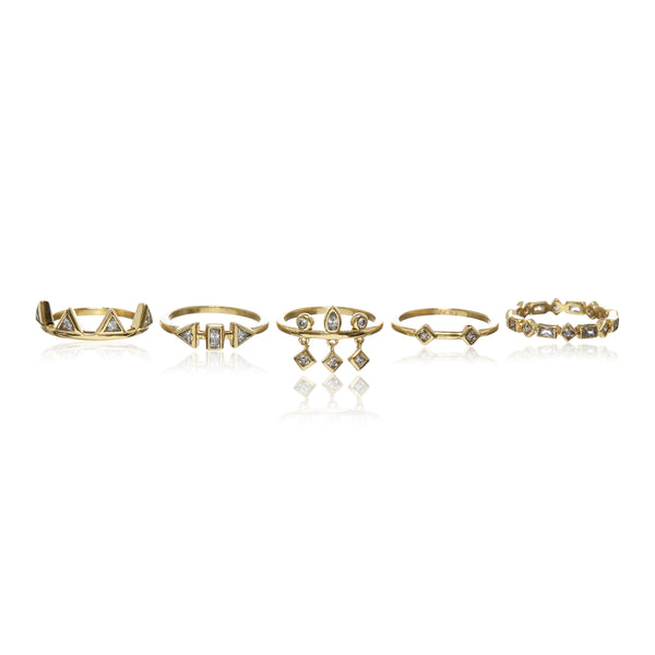 Medley Stone Ring Set - Melroso Jewelry