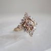 14KT Middleton Morganite Diamond Ring - Melroso