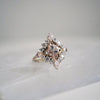 14KT Middleton Morganite Diamond Ring - Melroso Jewelry
