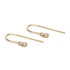 14KT Pearl and Diamond Hook Earrings - Melroso