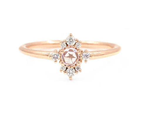 14KT Pink Sapphire Andromeda Ring - Melroso