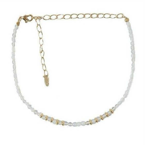 Mean One Thing Choker in Opal and Gold - Melroso