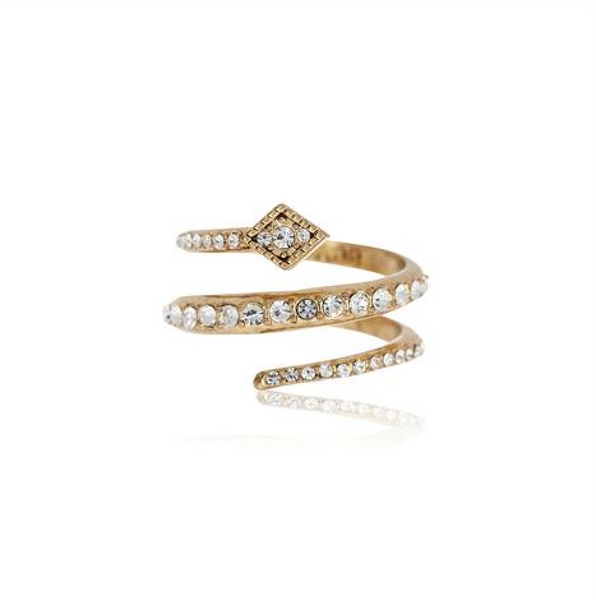 Diamond Kite Coil Ring - Melroso Jewelry