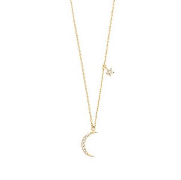 Moon & Star Necklace (Gold) - Tai - Melroso