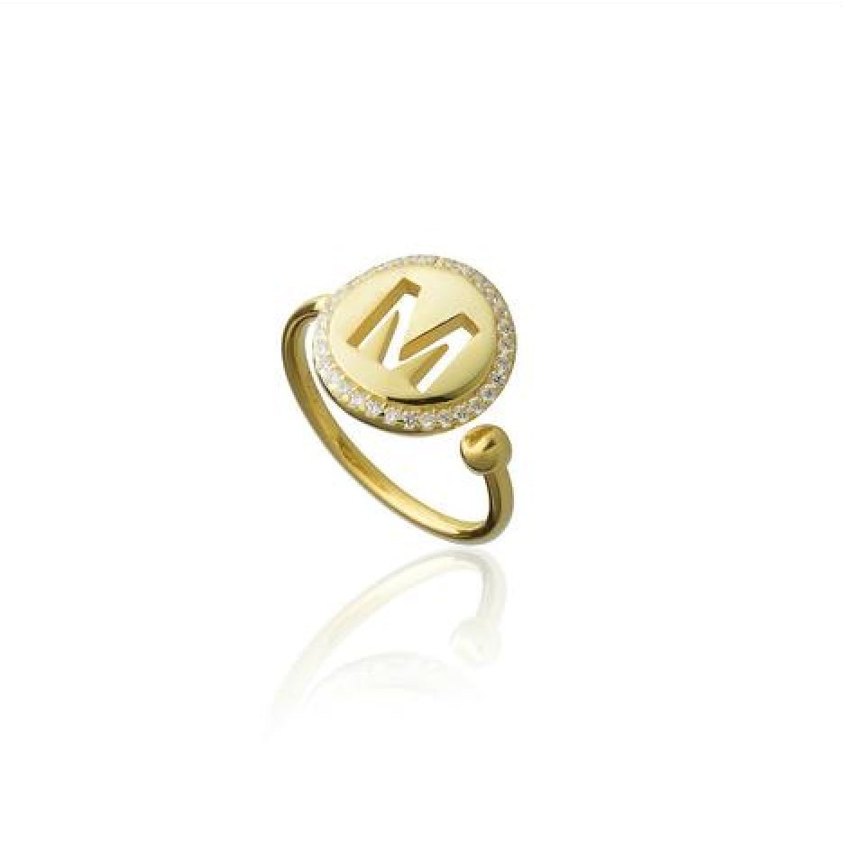 Pave Initial Ring - Melroso Jewelry