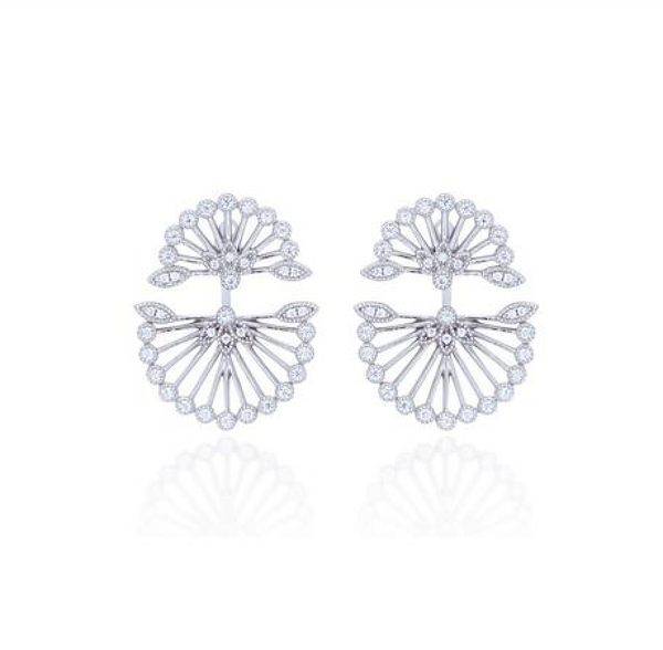 Fan Ear Jackets (Silver) - Melroso