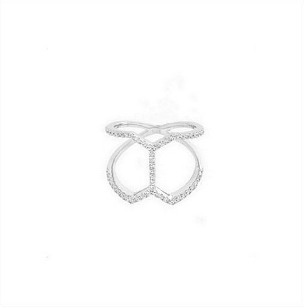 Pavé Butterfly Ring (Silver) - Melroso Jewelry