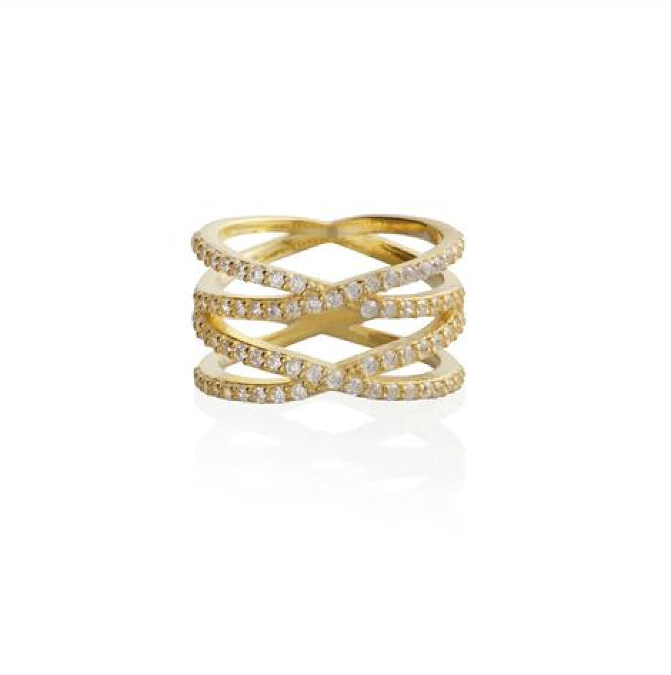 Pavé Double X Ring - Melroso