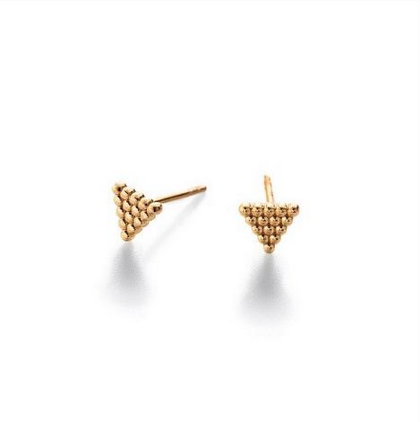 Rivet Triangle Studs - Melroso Jewelry