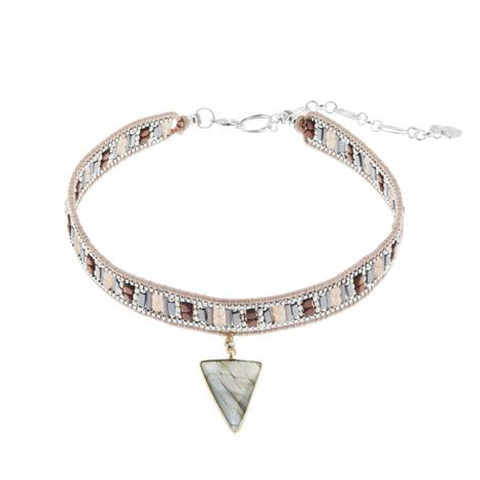 Stone and Bead Choker - Melroso