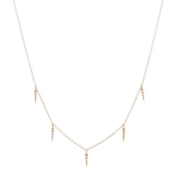 Delicate Multi Spike Choker/ Necklace - Melroso