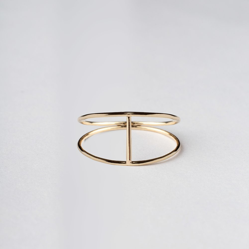 14KT Gold Silhouette Ring - Melroso Jewelry