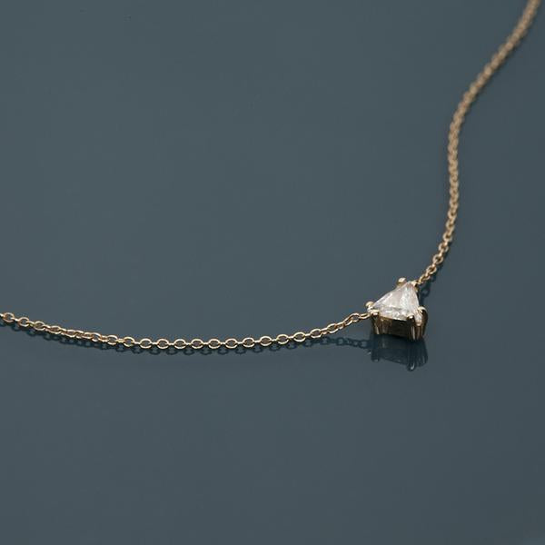 14KT Trillion Diamond Necklace - Melroso