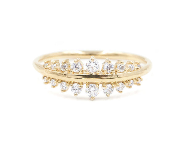 14KT Vega Tapering Diamond Ring - Melroso