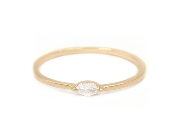 14KT Lorelei Tiny Marquise Ring - Melroso