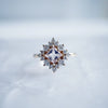 14KT Aphrodite Morganite Diamond Ring - Melroso