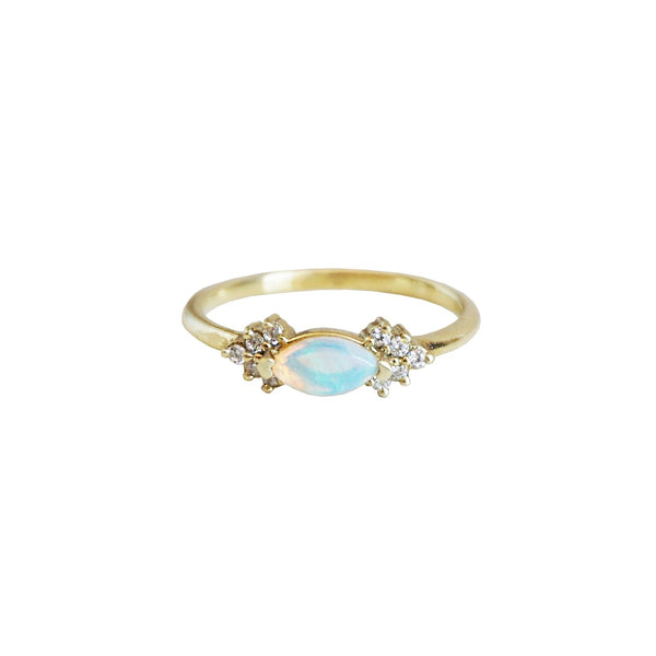10KT Australian Opal Marquise Ring - Melroso Jewelry