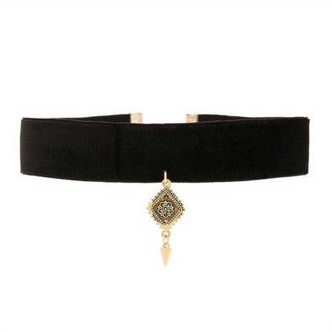 The Diamond Choker - Velvet