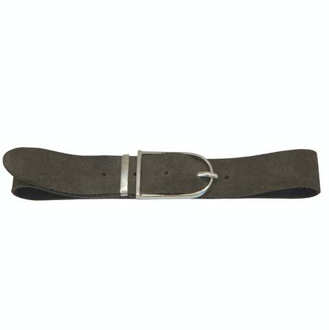 Grey Suede Buckle Choker