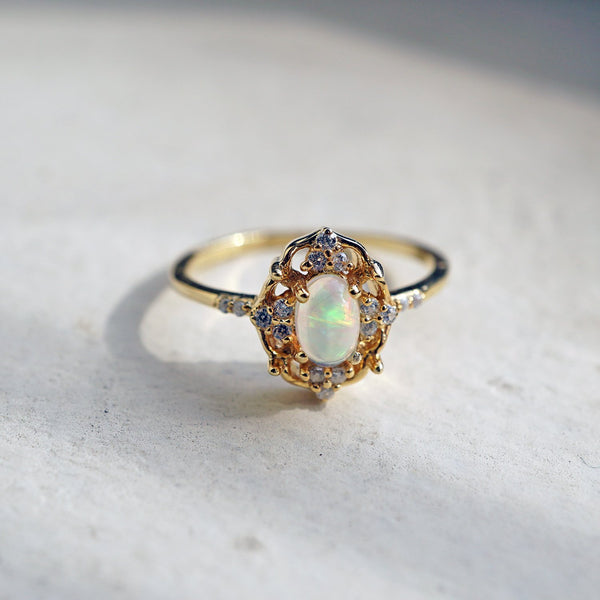 Cosmic Opal Ring - Melroso Jewelry