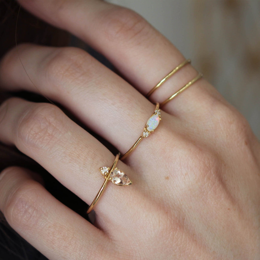 14KT Crossroads Ring - Melroso Jewelry