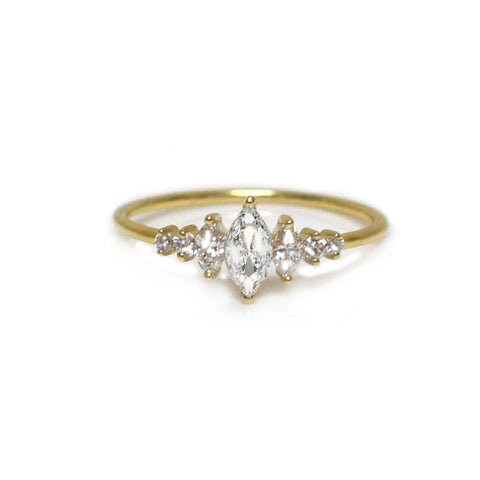 14KT Gold Diamond Ice Queen Ring - Melroso
