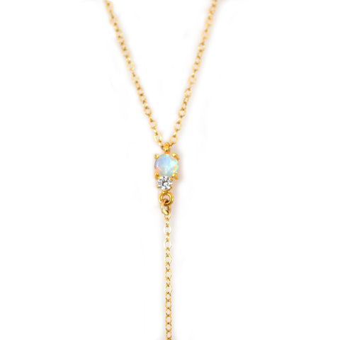Opal and Dose Diamond Double Dose Lariat
