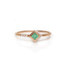 14KT Rose Gold Emerald & Diamond Mysterieux Ring - Melroso