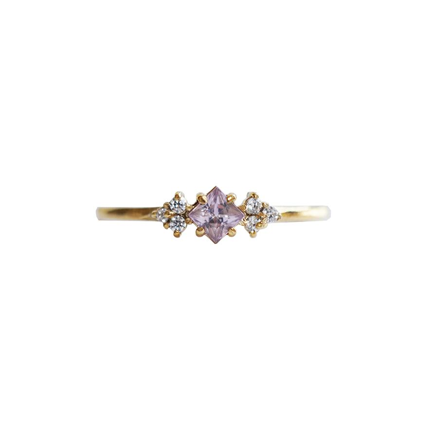 14KT Pink Sapphire Blush Ring - Melroso Jewelry