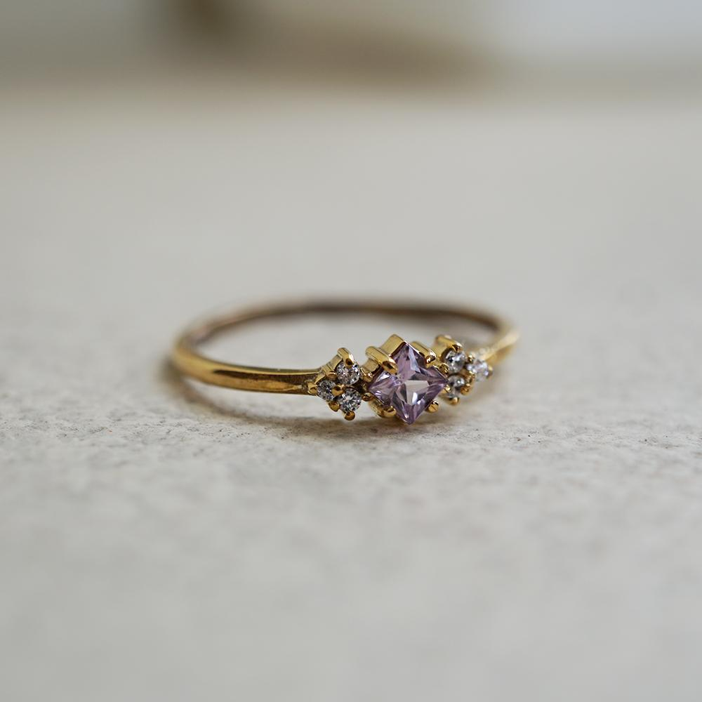 14KT Pink Sapphire Blush Ring - Melroso