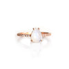 Rose Gold Rainbow Moonstones and Topaz Angels Tear Ear Drop - Melroso