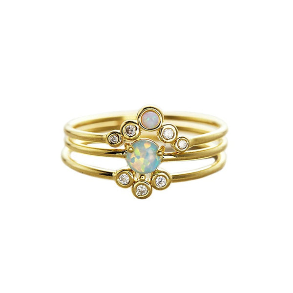 Opal Stackers - Melroso Jewelry
