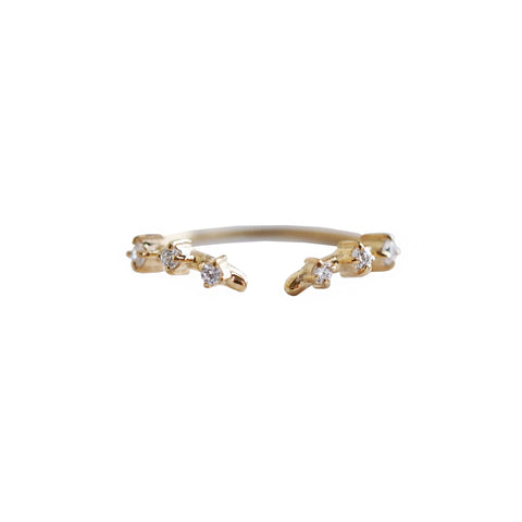 Rose Thorn Ring Band - Melroso Jewelry