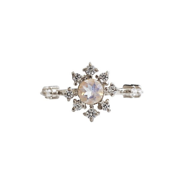 Moonstone Rose Thorn Ring - Melroso