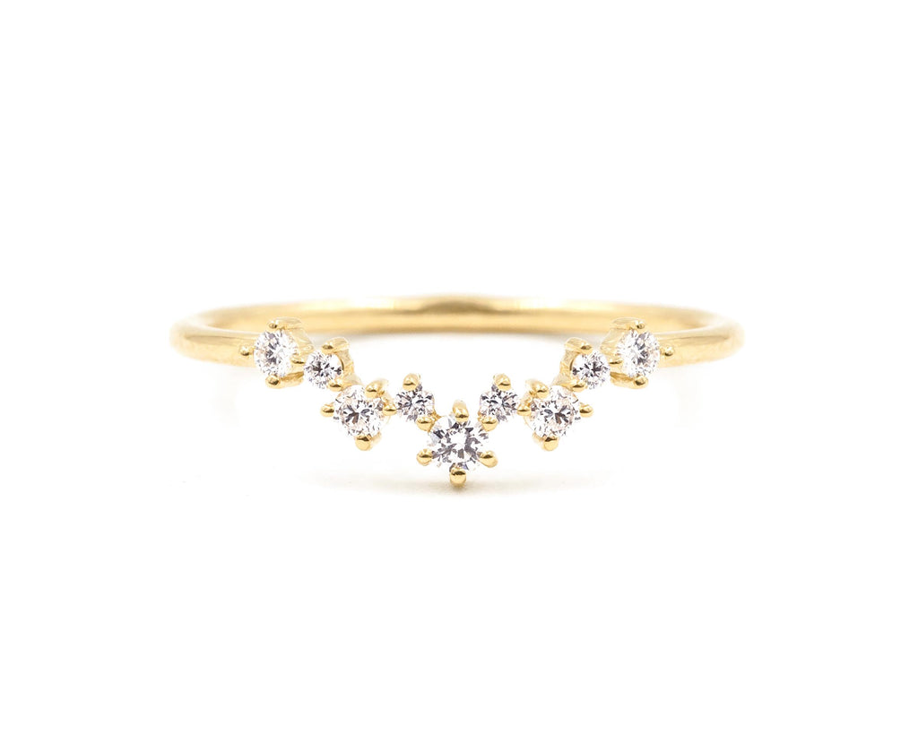 14KT Aster Cluster Band - Melroso Jewelry