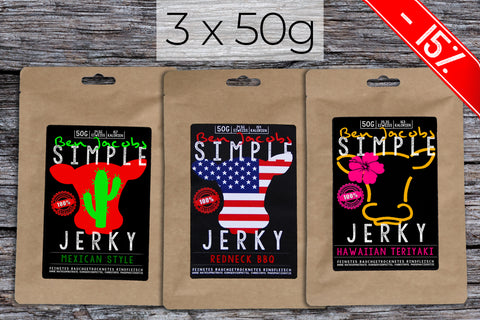 Beef Jerky Abo - Small Spicy Box (3 x 50g)