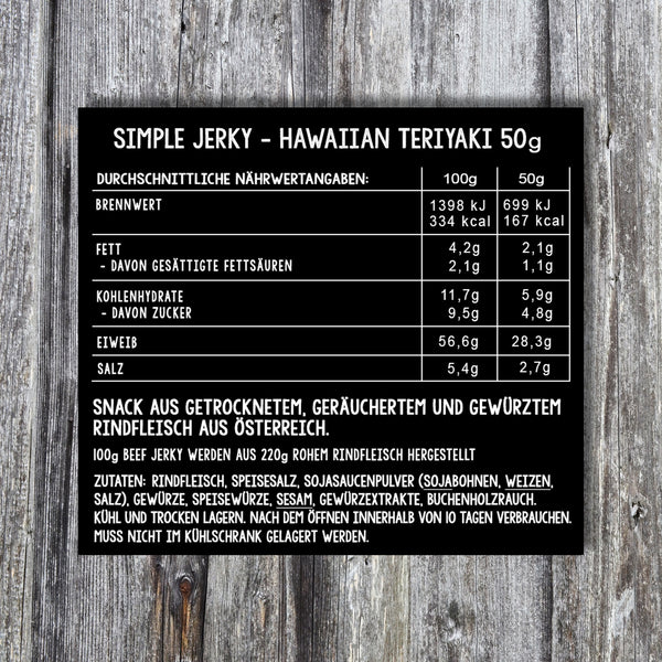 Simple Jerky - Small Spicy Box (3 x 50g) als Abo