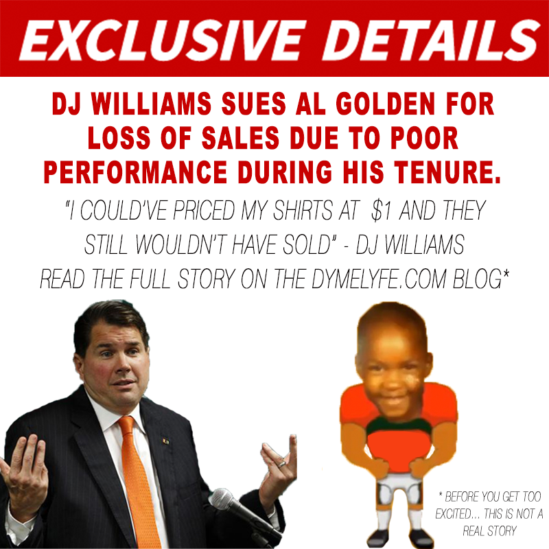 *Parody* DJ Williams Files Lawsuit Against Al Golden Due To Loss Of Dyme Lyfe Sales