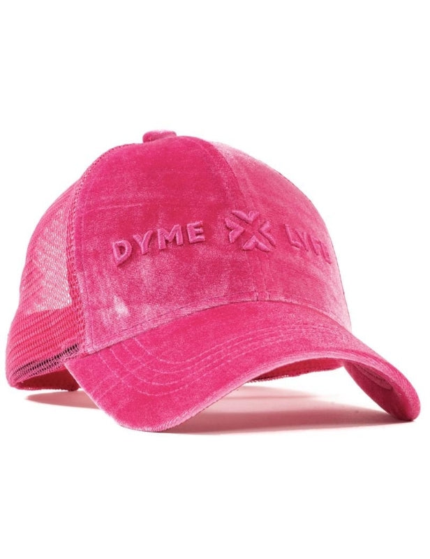 Electric Rose Velour Mesh Trucker