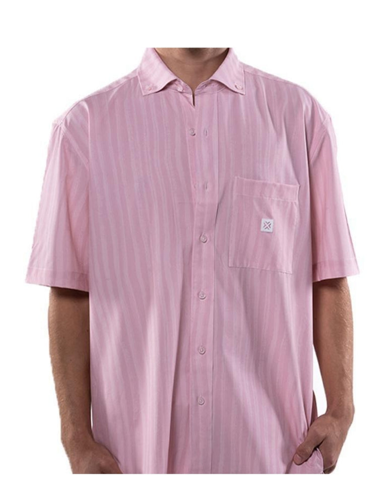 Load image into Gallery viewer, Pink Wave Button Up