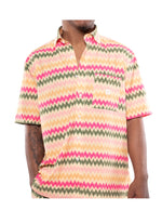 Color Wave Button Up
