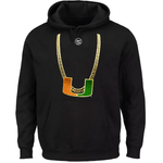 Men's Black U Turnover Chain Hoody