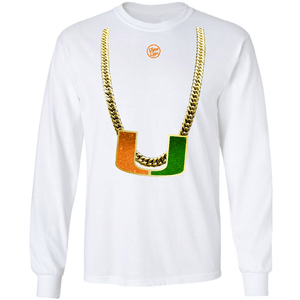 Load image into Gallery viewer, Men's White Turnover Chain Long Sleeve shirt