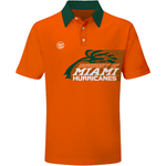 HURRICANE PALM DYME TECH POLO