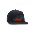 HURRICANE PALM BLACK SNAPBACK